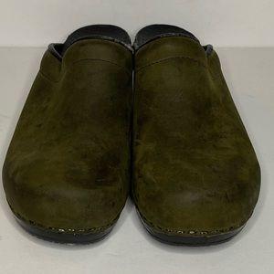 Army Green slip on Dansko's clogs